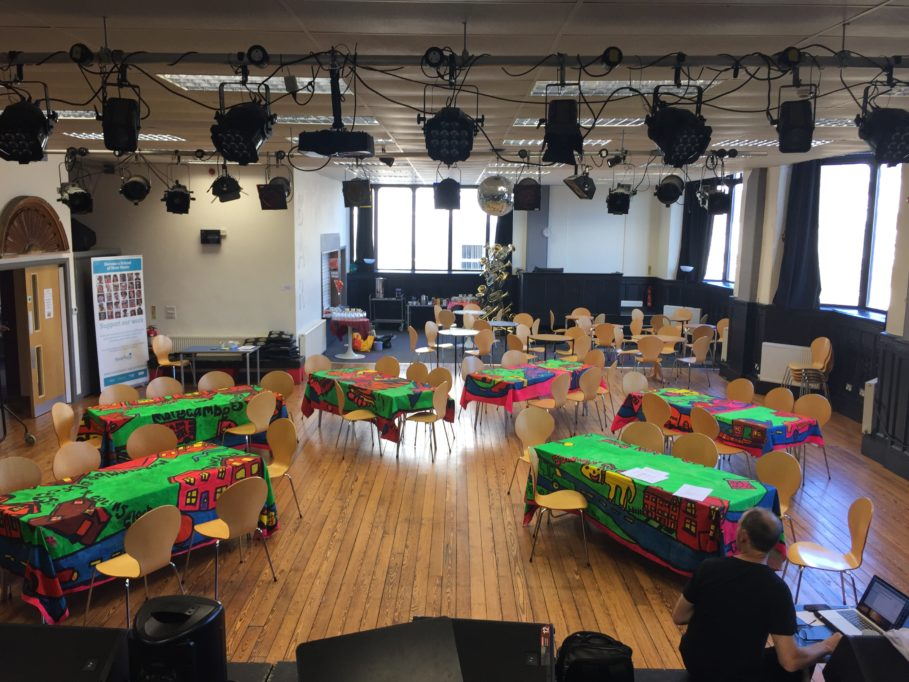 Music Hall set up cabaret style