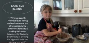 Image of young girl baking as part of Unlocked Experiences project