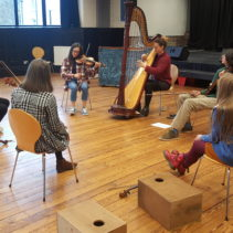 Twelfth Day masterclass with local young folk musicians